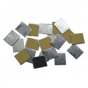 Pegatinas rectangulares metálicas