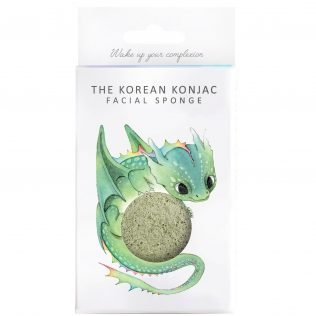 Konjac Sponge & Hook (Green Clay)