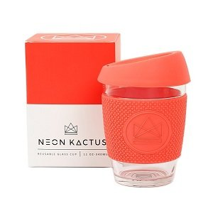 Reusable Glass Cup Coral Dream Believer
