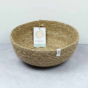 Natural Seagrass Bowl Large