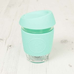 Reusable Glass Cup Mint Free Spirit
